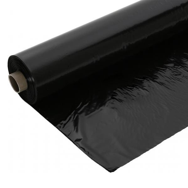 Черная полиэтиленовая строительная пленка