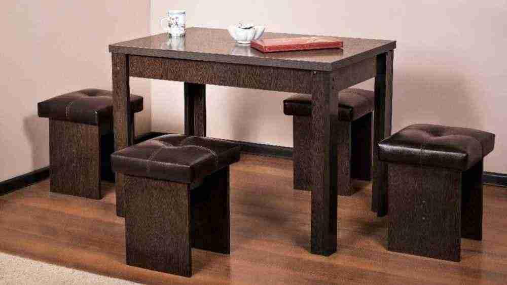 Кухонный стол, стулья и табуретки: основные правила при их выборе