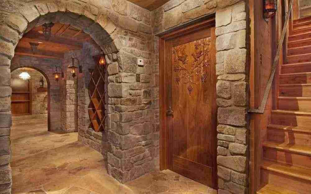 Отделка арок из декоративного камня