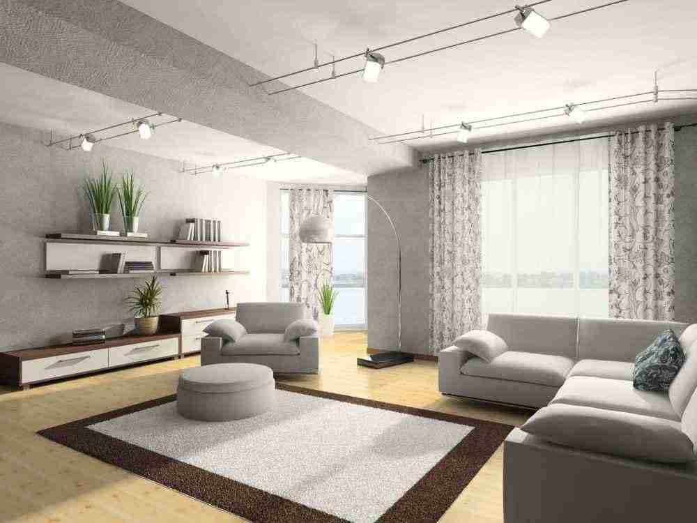 Узнайте плюсы интерьера гостиной в серой гамме