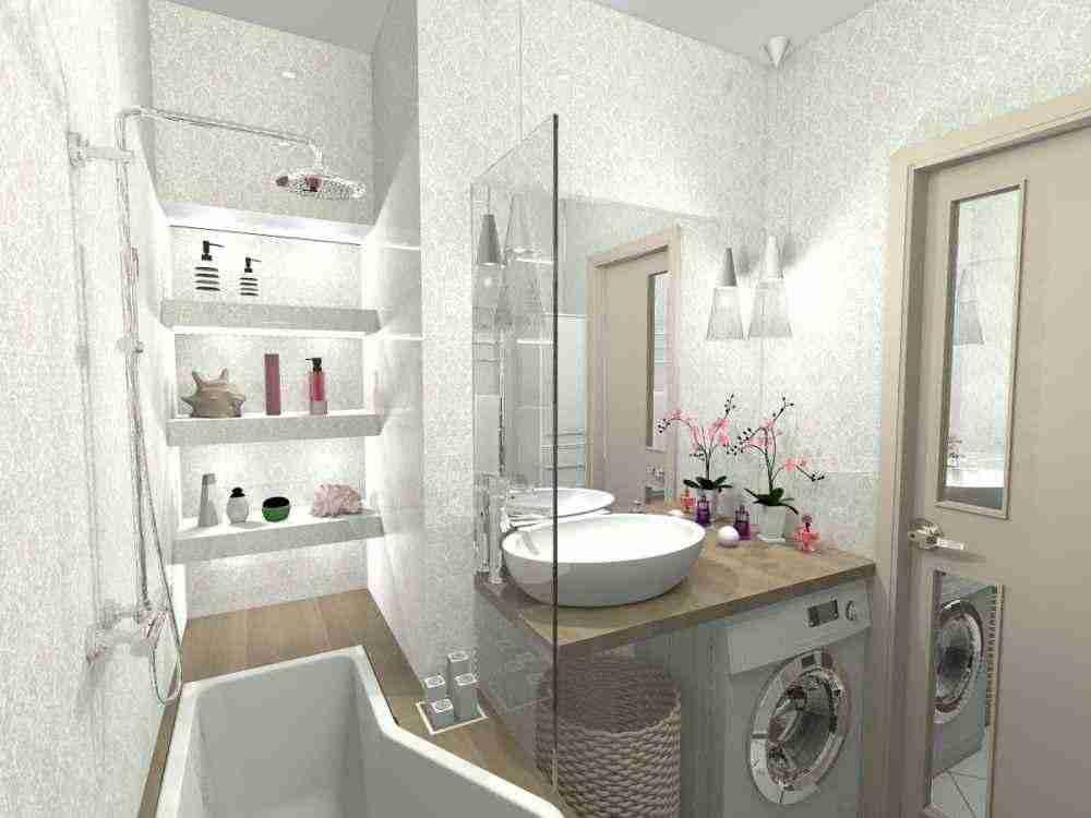 Как маленькую ванную превратить в современную купель