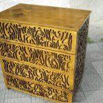Декорирование мебели резьбой по фанере