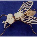 Игрушка муха из фанеры
