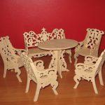 Набор мебели для кукол из фанеры