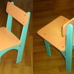 Простой детский стул из фанеры