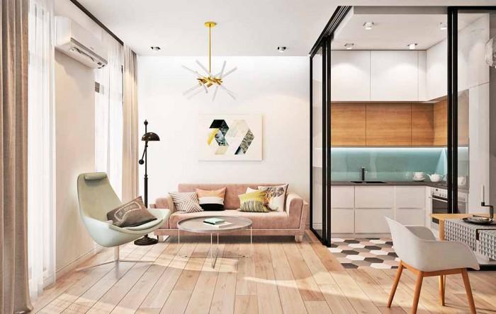 Как организовать интерьер в квартире-студии?