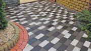 Тротуарная плитка из белого цемента