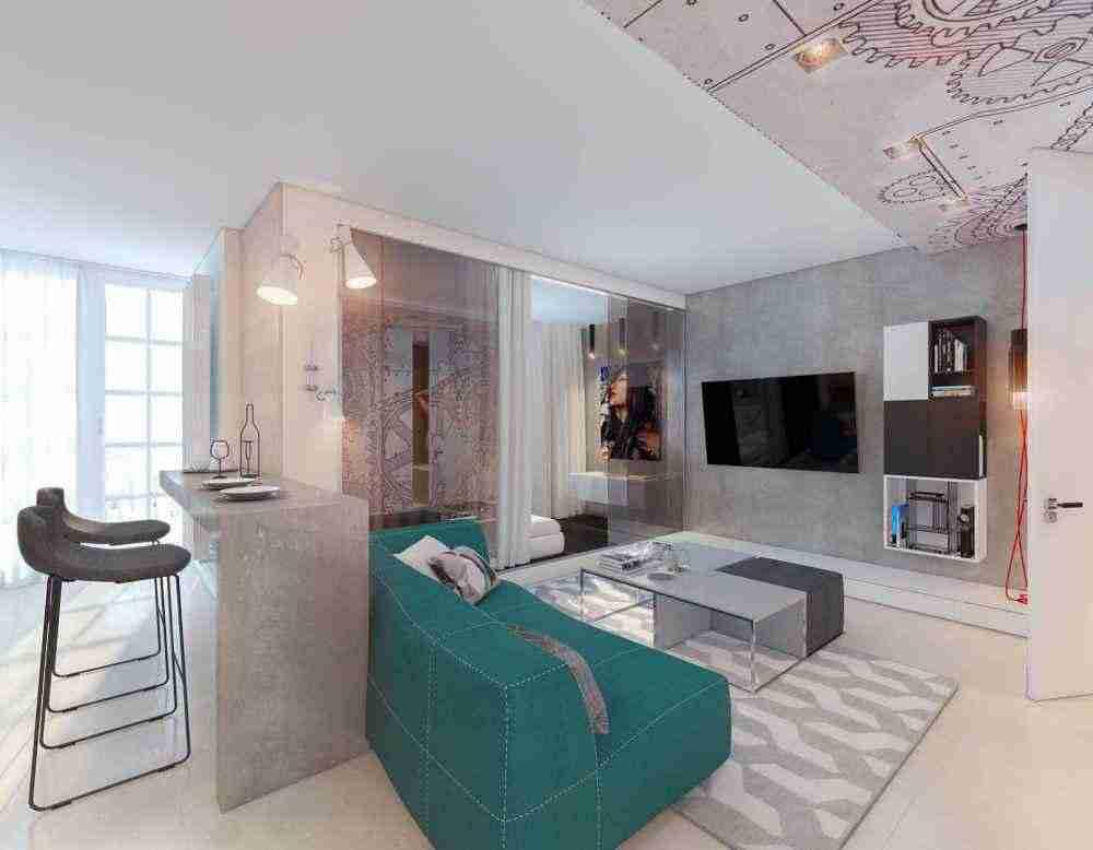 Ключевые особенности дизайна однокомнатных квартир