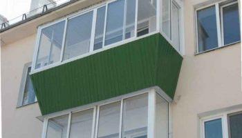 Остекление балкона и лоджий с выносом