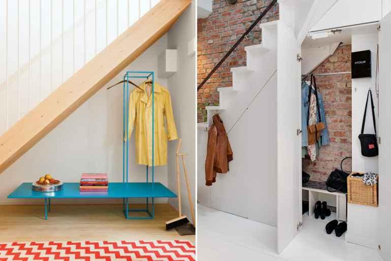 Кладовка под лестницей - место хранения несезонных вещей