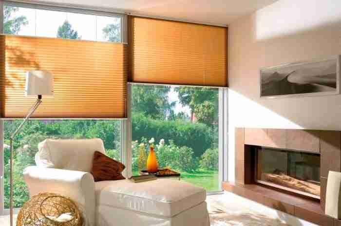 Жалюзи–плиссе на окнах современных квартир