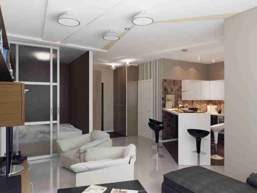 Планировка и зонирование квартиры-студии