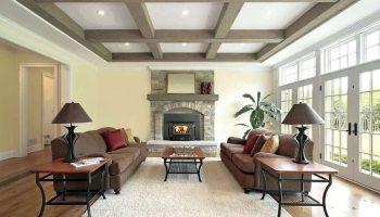 Лучшие дизайнерские приемы чтобы потолки в гостиной казались выше