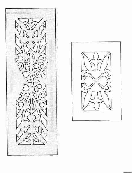 Боковые стороны - чертежи на выпиливание лобзиком из фанеры шкатулки
