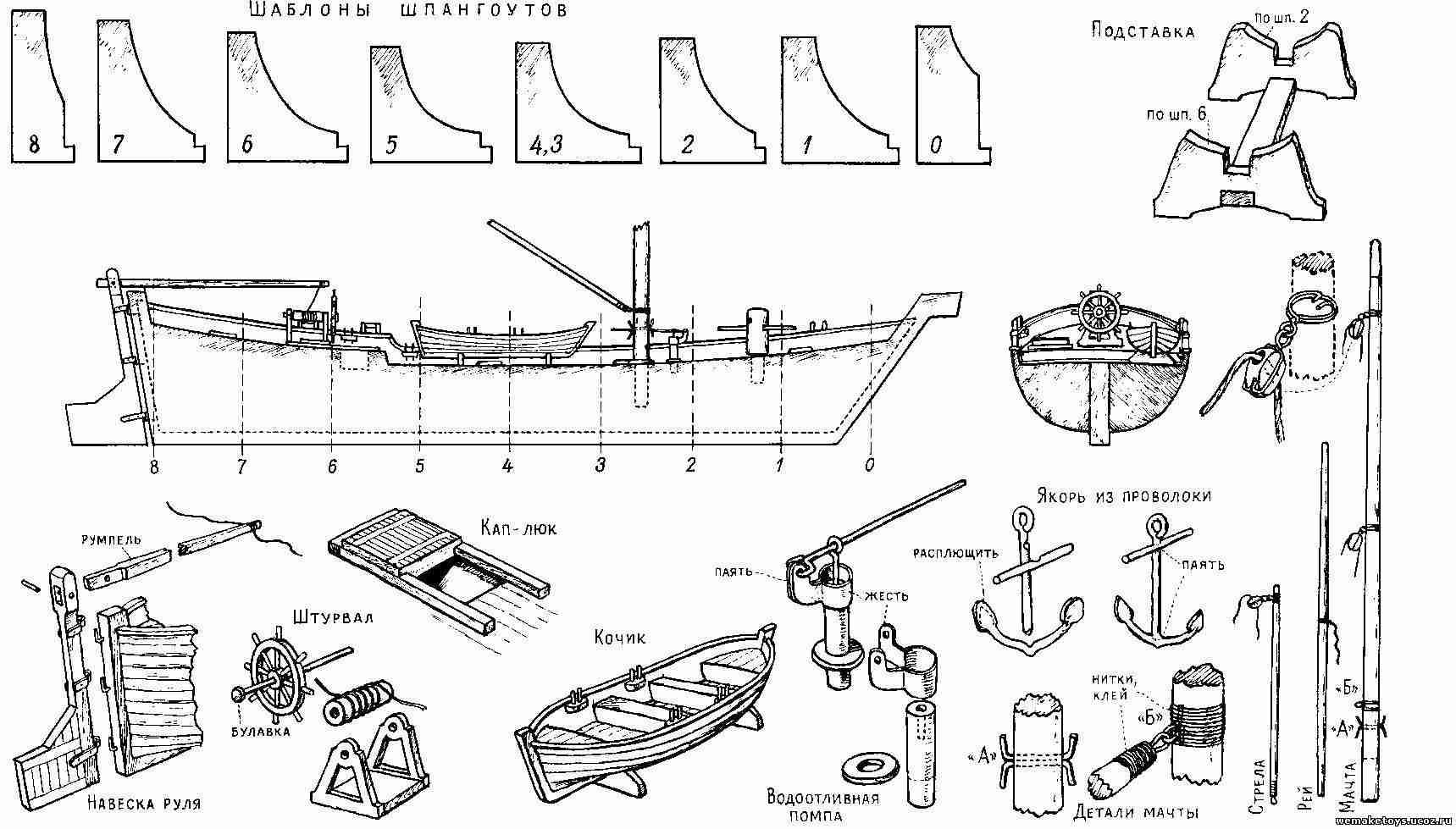 Деревянный корабль своими руками чертежи фото 255