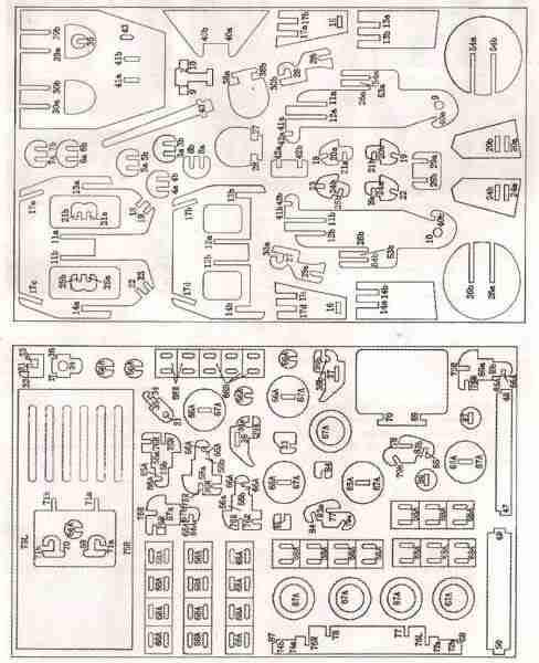 Чертеж модели танка. Часть 2