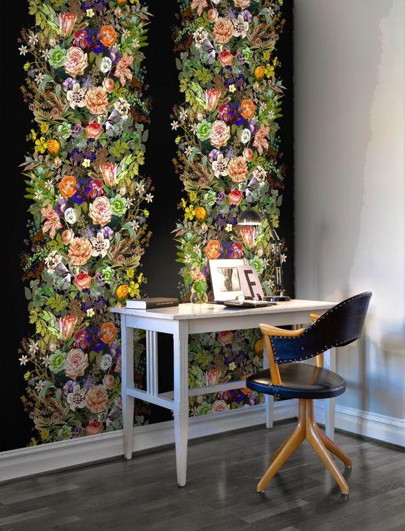 Как правильно применять цветочные принты в интерьере