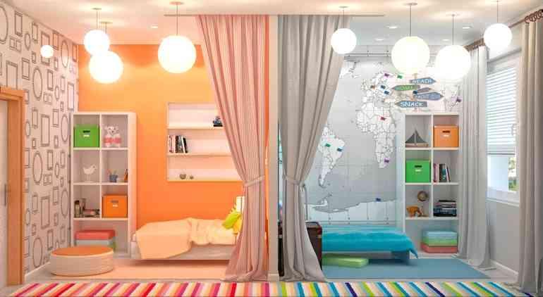 Важные принципы обустройства детской комнаты на двоих детей