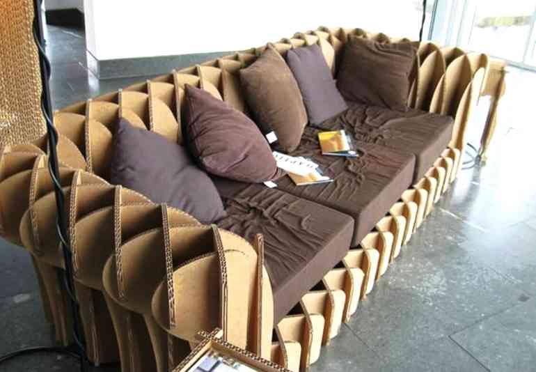 Мебель из картона на дачу - красиво и экономно