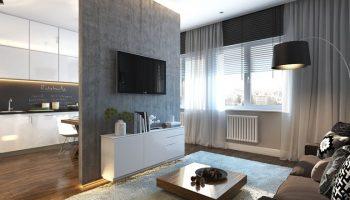 Квартира-студия — как уместить гостиную, спальню и кухню на 30 кв метрах