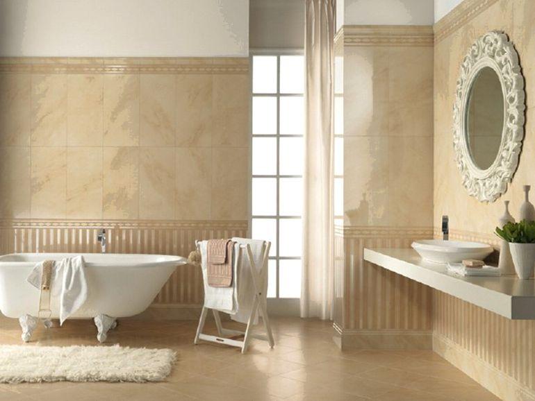 Как обыграть цвет сантехники в ванной с помощью плитки