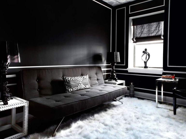 Долой предрассудки: зачем дизайнеры красят пол и стены в черный цвет