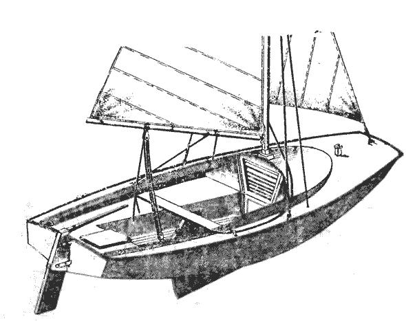 Эскиз яхты