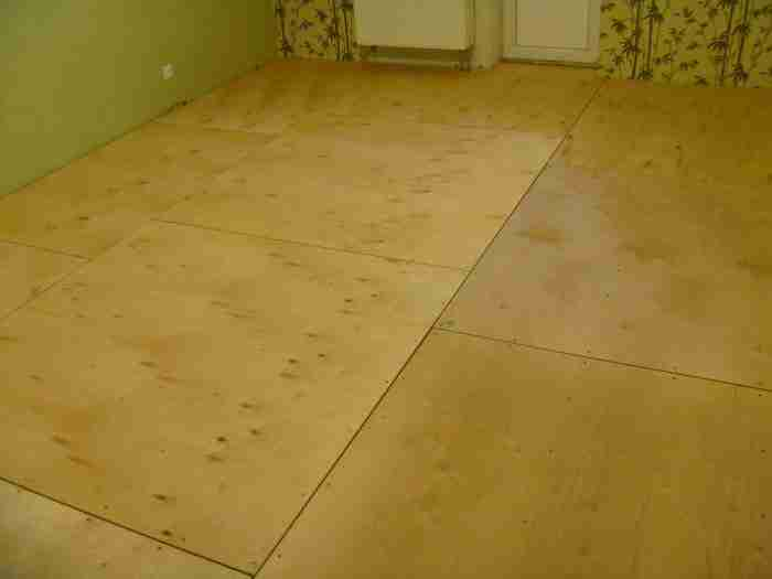 Как положить фанеру на бетонный пол. Подготовка материала, зачистка поверхности и крепеж листов. Особенности укладки