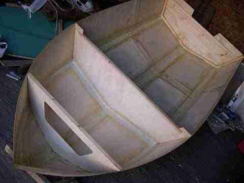 Фото фанерной конструкции лодки