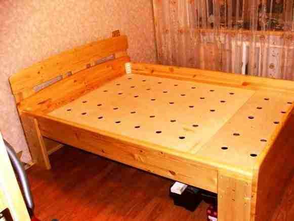 Фото кровати, собранной самостоятельно