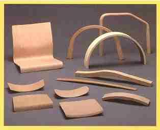 Гнутоклееные изделия из фанеры разной формы