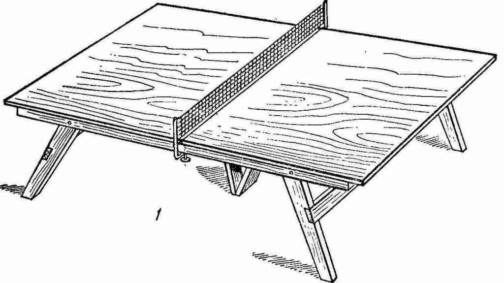 Из фанеры получится прекрасный теннисный стол.