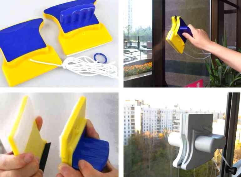Щётки на магните для мытья окон