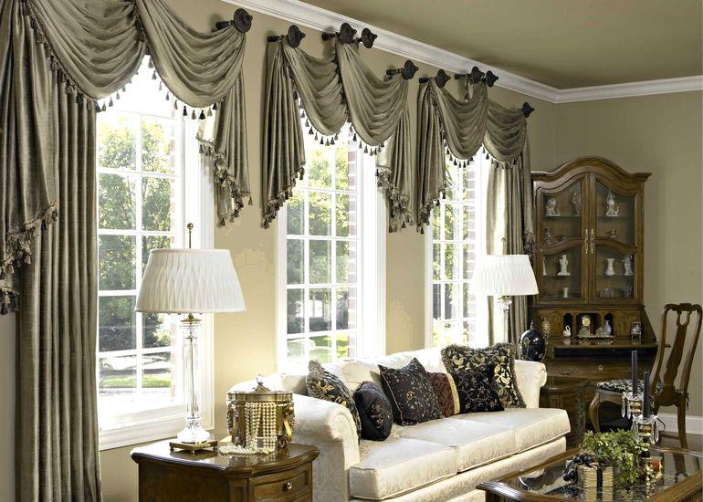 Как оформить шторы ламбрекенами чтобы они не выглядели старомодно