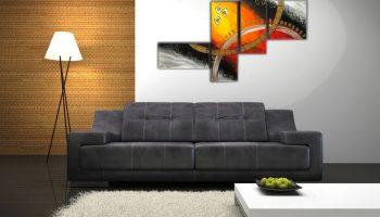 Как составить панно из фотографий для украшения стены над диваном