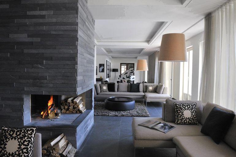 Как в интерьере квартиры применить отделку натуральным камнем