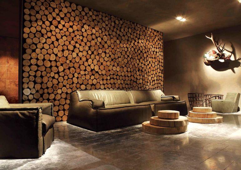Дизайнерский ремонт из остатков дерева - экономно, красиво и смотрится дорого