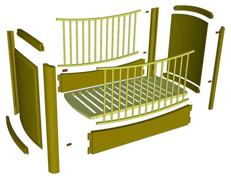 Делаем кроватку для малыша своими руками