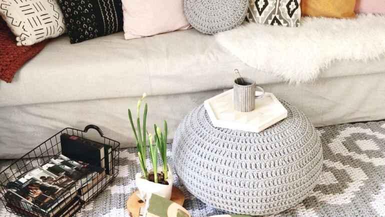 Как использовать декор из ниток крупной вязки в современном интерьере
