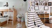 Идея для оформления детской комнаты в скандинавском стиле