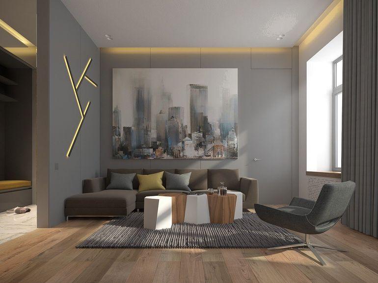Как ломаные линии в интерьере помогут визуально сделать стены и потолок ровными