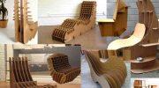 Мебель из картона на дачу — красиво и экономно
