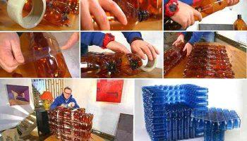 Мебель на дачу из пластиковых бутылок — красиво, быстро, экономно