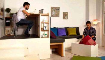 Как сохранить пространство малогабаритной квартиры с помощью мебели-трансформера