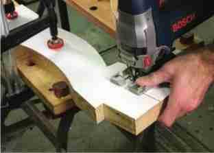 Мебельные работы с помощью электролобзика