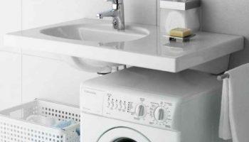Раковина над стиральной машиной и еще 5 уловок для функциональной ванной комнаты