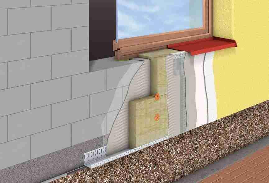 Не вентилируемая отделка фасадной стеный