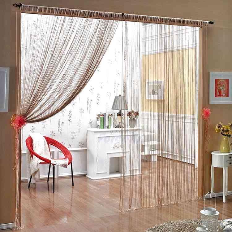 Как добавить легкости с помощью нитяных штор для декорирования окна