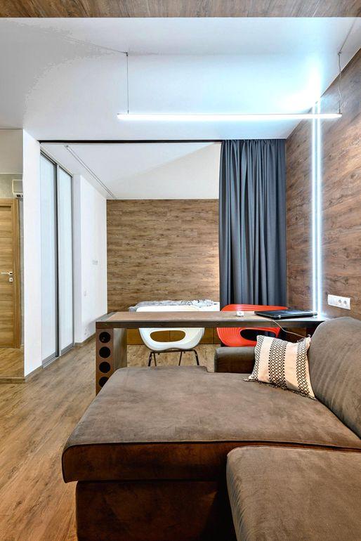 Как визуально вытянуть в длину комнату квадратной формы
