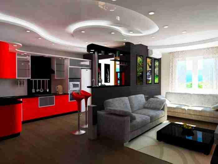 Организация интерьера в квартире-студии